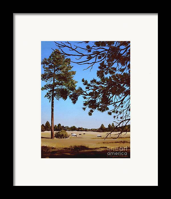 Scene Framed Print featuring the painting Summer Serenity by Suzanne Schaefer