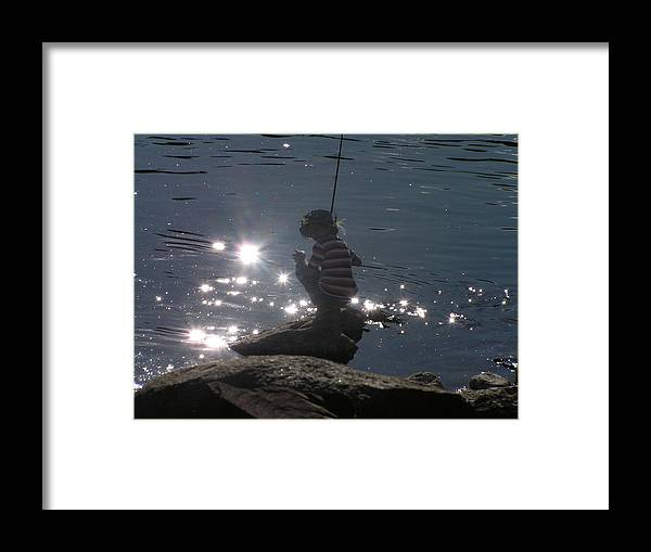 Boy Framed Print featuring the photograph Summer Sparkle by Sharon Erback