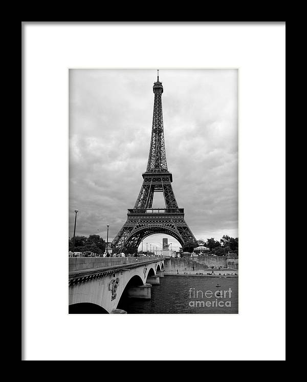 Summer Storm Over The Eiffel Tower Framed Print By Carol Groenen