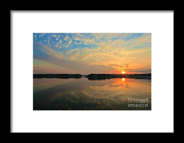 Sunrise Framed Print featuring the photograph Summer Sunrise by Amazing Jules