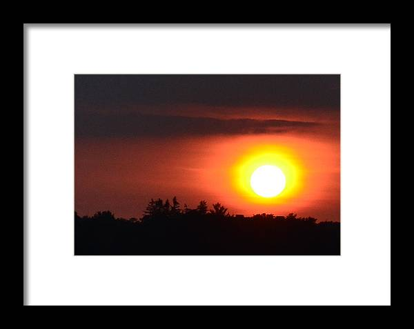 Abstract Framed Print featuring the photograph Summer Sunset 4 Wc by Lyle Crump