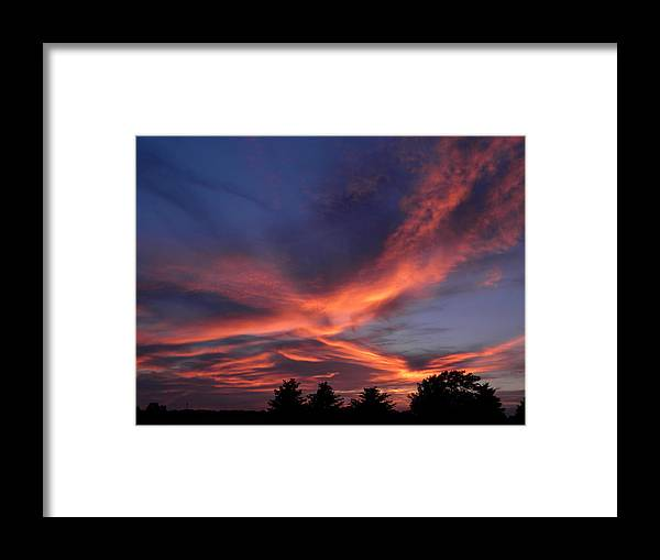 Sunset Framed Print featuring the photograph Summer Sunset by Helen ONeal