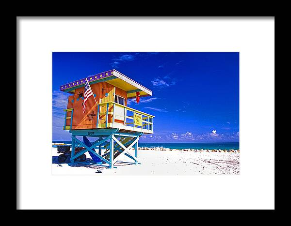 Architecture Framed Print featuring the photograph Summer Time by Eggers Photography