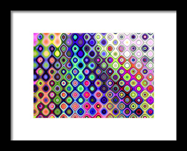 Abstract Framed Print featuring the digital art Summer's Colourful Nights by Hakon Soreide