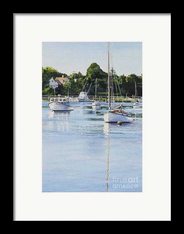 Sailboats Framed Print featuring the painting Summer's Eve by Karol Wyckoff