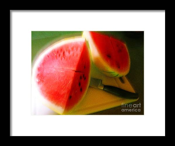 Watermelon Framed Print featuring the photograph Summertime and the living is easy by James Temple