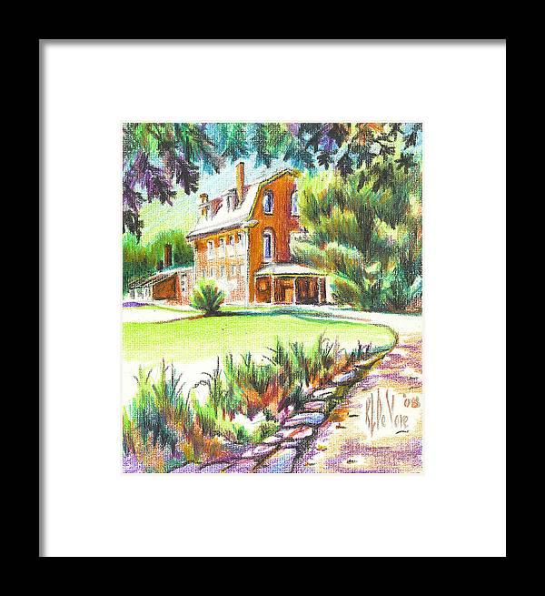 Summertime At Ursuline No C101 Framed Print featuring the painting Summertime At Ursuline No C101 by Kip DeVore