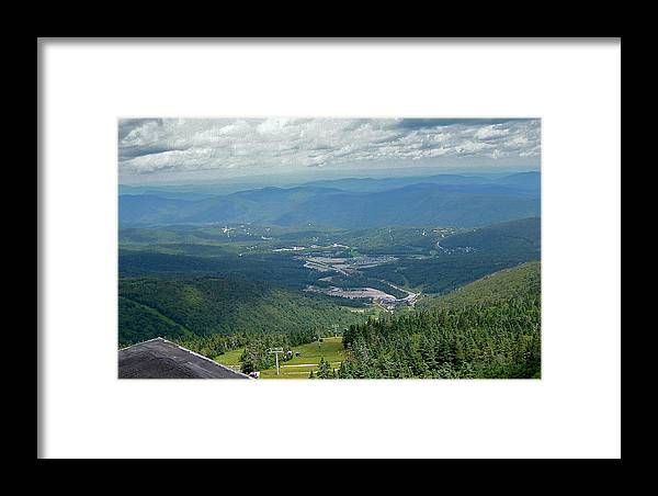 View Framed Print featuring the photograph Summertime On Mt. Killington by Susan Wyman
