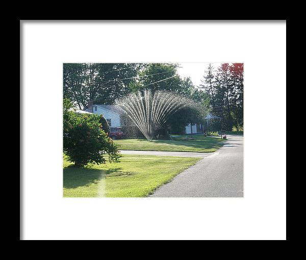 Framed Print featuring the photograph Summertime Spray by Ashley Lamey