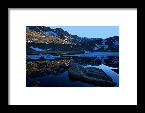 Mt. Evans Framed Print featuring the photograph Summit Lake Calm by Jim Garrison