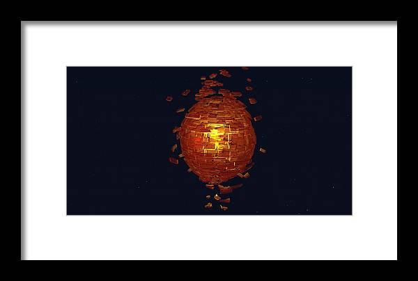 Framed Print featuring the digital art Sun Ball by Nikolai Markov