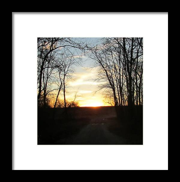 Sunset Framed Print featuring the photograph Sun Going Down by Stephanie DeBoard