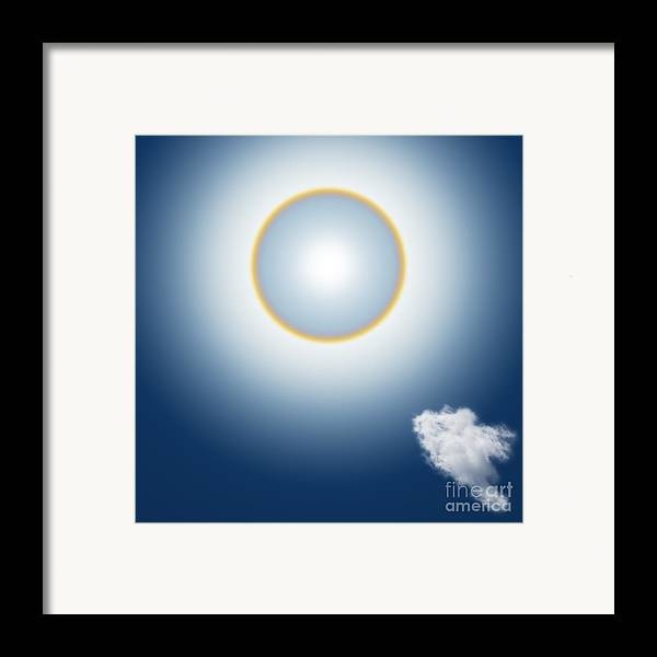 Around Framed Print featuring the mixed media Sun Halo by Atiketta Sangasaeng