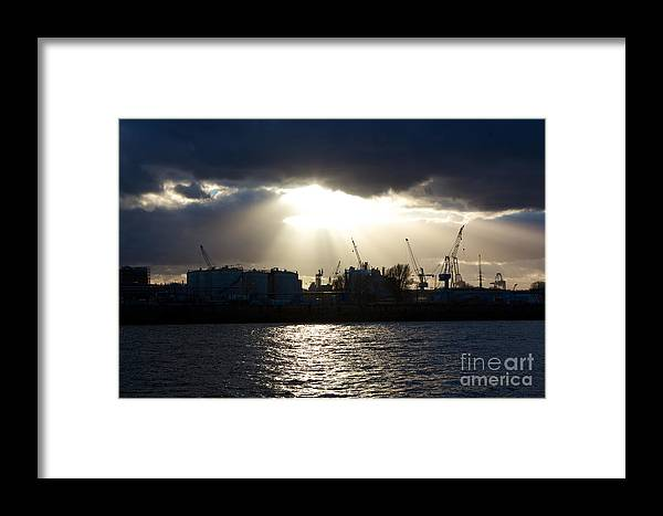 Afternoon Framed Print featuring the photograph Sun Shining Through Clouds by Jannis Werner