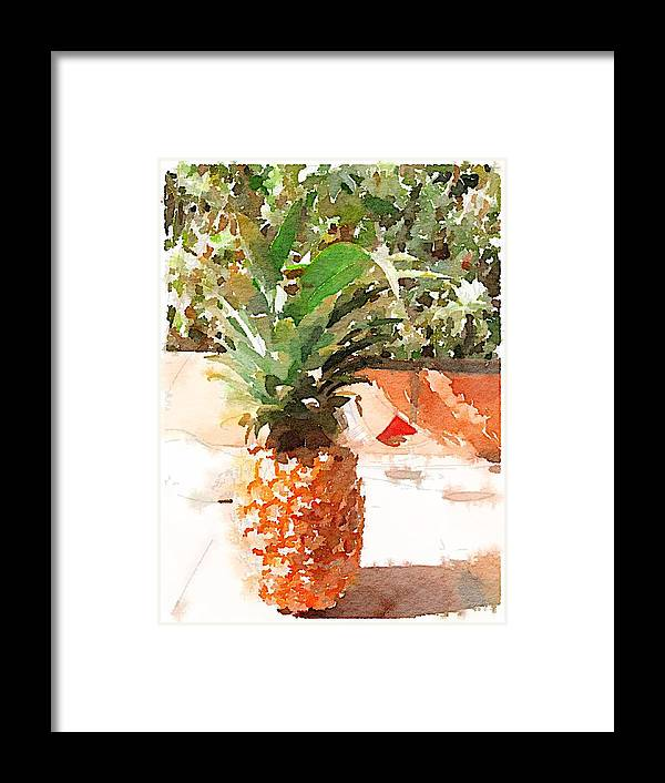 Pineapple Framed Print featuring the digital art Sunday Brunch by Shannon Grissom