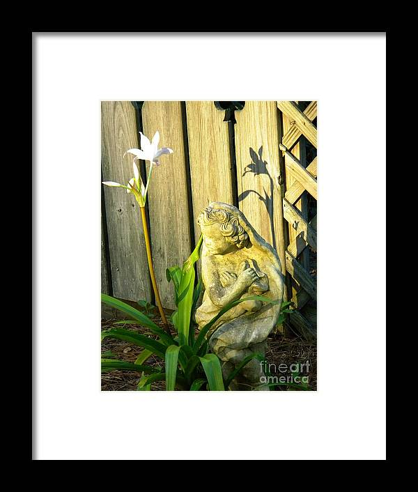 Flower Framed Print featuring the photograph Sunday Morning Angel by Matthew Seufer