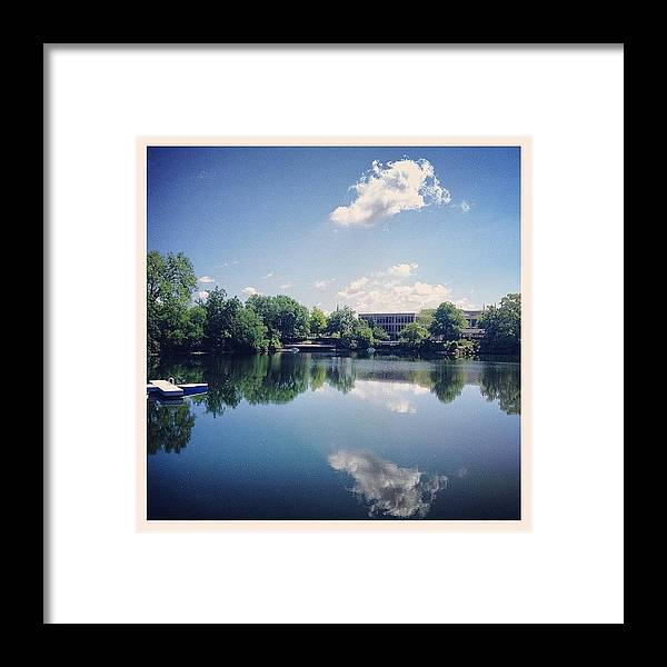 Water Framed Print featuring the photograph Sunday Morning by Mike Maher