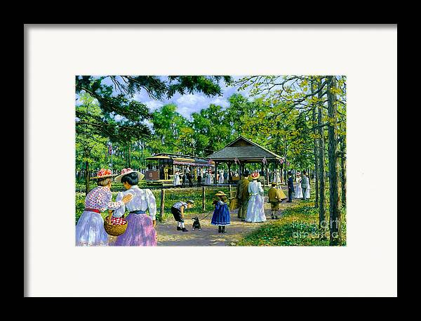 Sunday Picnic Framed Print featuring the painting Sunday Picnic by Michael Swanson