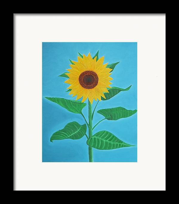Sunflower Framed Print featuring the painting Sunflower by Sven Fischer