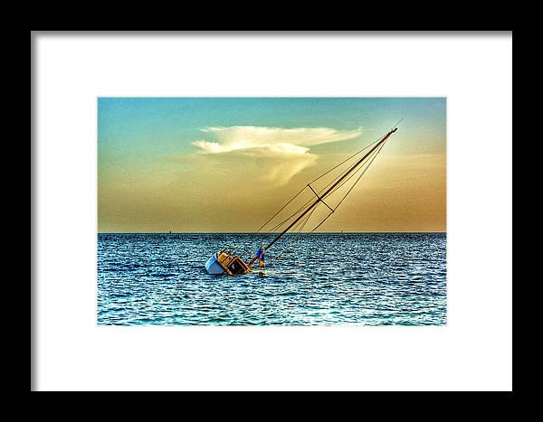 Nature Framed Print featuring the photograph Sunken Dreams by Edward Johnston