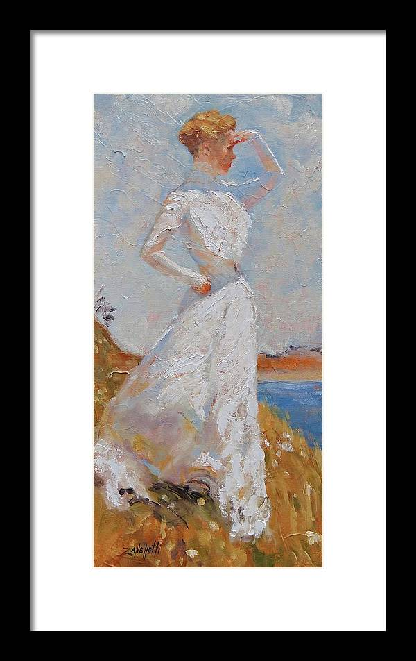 American Impressionist Framed Print featuring the painting Sunlight by Laura Lee Zanghetti