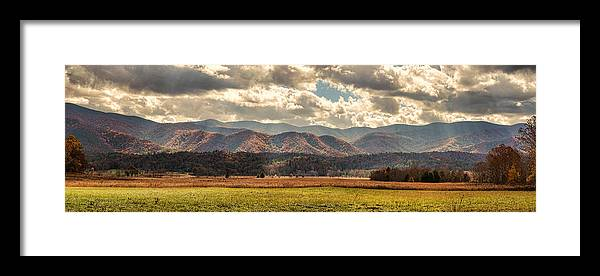 Cades Cove Framed Print featuring the photograph Sunlight Rains Down by Heather Applegate