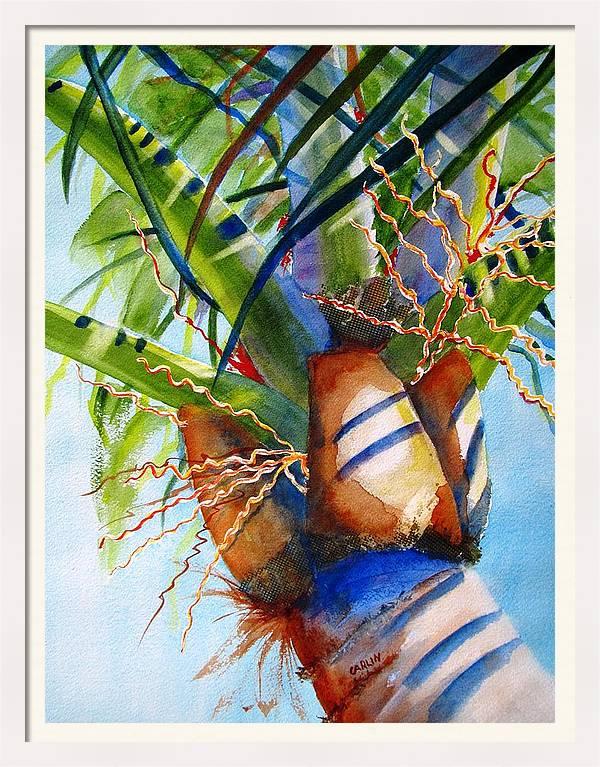 Sunlit Palm by Carlin Blahnik CarlinArtWatercolor