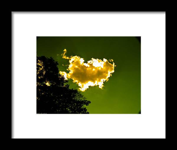 Yellow Framed Print featuring the photograph Sunlit Yellow Cloud by Nick Kirby