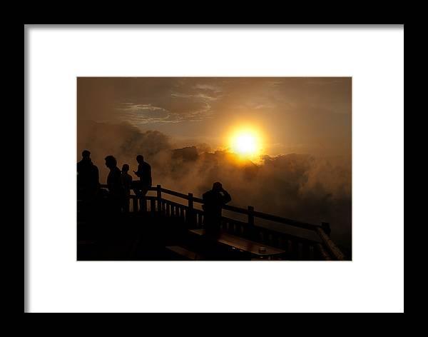 Sunraise Framed Print featuring the photograph Sunraise At Watzmannhaus by Hildie Hofmann