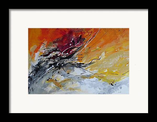 Sunrise Framed Print featuring the painting Sunrise - Abstract Art by Ismeta Gruenwald