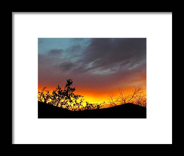Sunrise. Framed Print featuring the photograph Sunrise after the Storm. by Joyce Woodhouse
