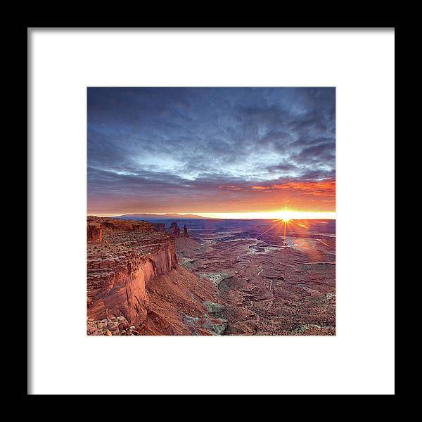 Tranquility Framed Print featuring the photograph Sunrise At Canyonlands by Hansrico Photography