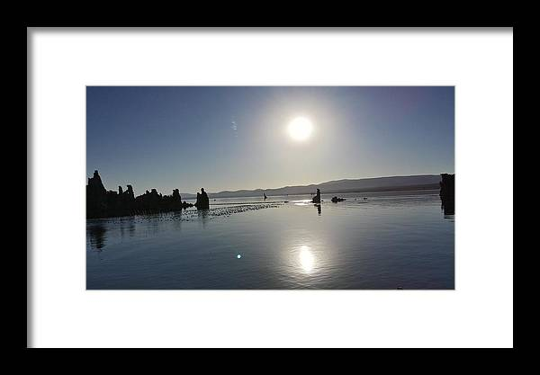 Mono Lake Framed Print featuring the photograph Sunrise At Mono Lake 001 by George Bostian