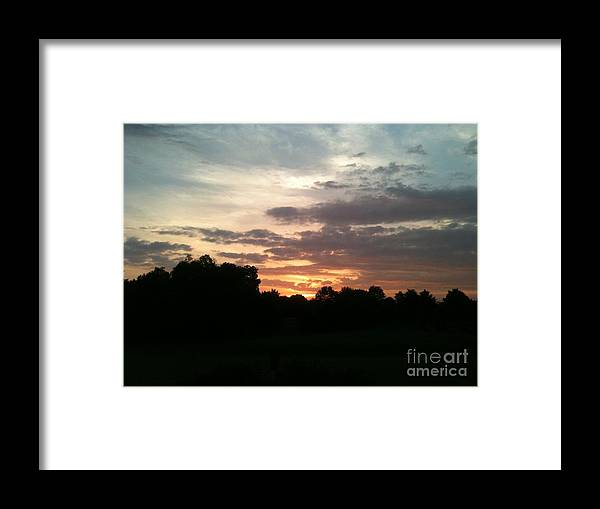 Sunrise Framed Print featuring the photograph Sunrise Coming by Valerie Brown