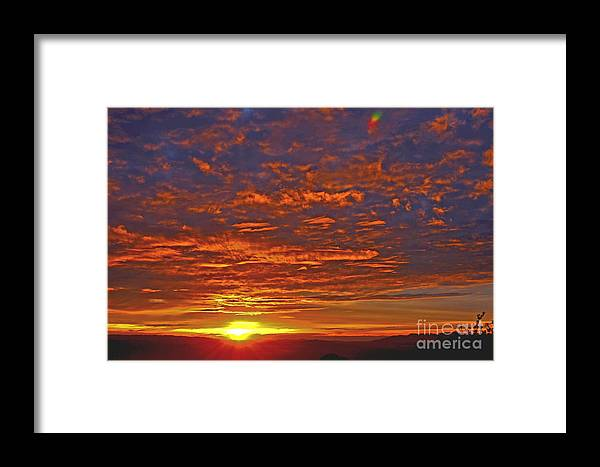 Purple Framed Print featuring the photograph Sunrise In Colombia by Paola Correa de Albury