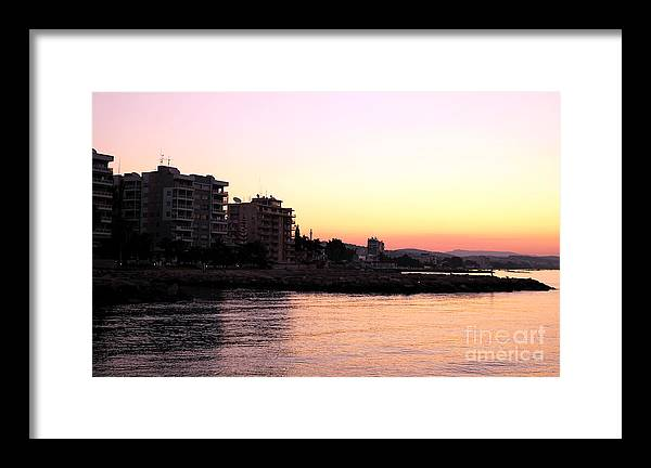 Sunrise In Cyprus Framed Print featuring the photograph Sunrise In Cyprus by John Rizzuto