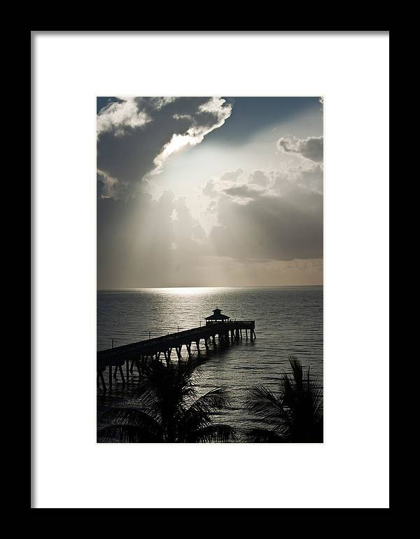 Coast Photographs Framed Print featuring the pyrography sunrise in Florida by I I