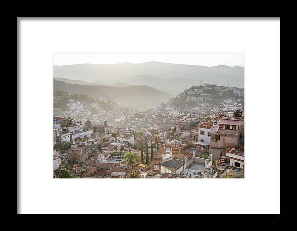 Usa Framed Print featuring the photograph Sunrise In Taxco, Guerrero, Mexico by Marcos Ferro