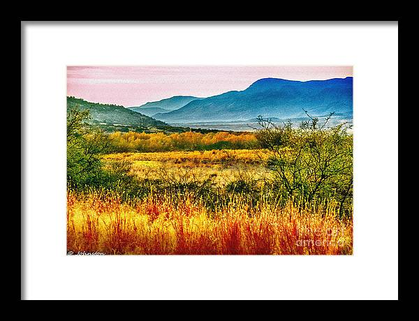 Sunrise Framed Print featuring the photograph Sunrise In Verde Valley Arizona by Bob and Nadine Johnston