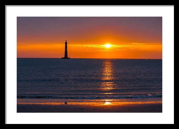 Lighthouse Framed Print featuring the photograph Sunrise Light by Dwayne Schmidt