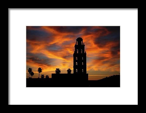 Sunrise Framed Print featuring the photograph Sunrise Mission by Garrett Nyland