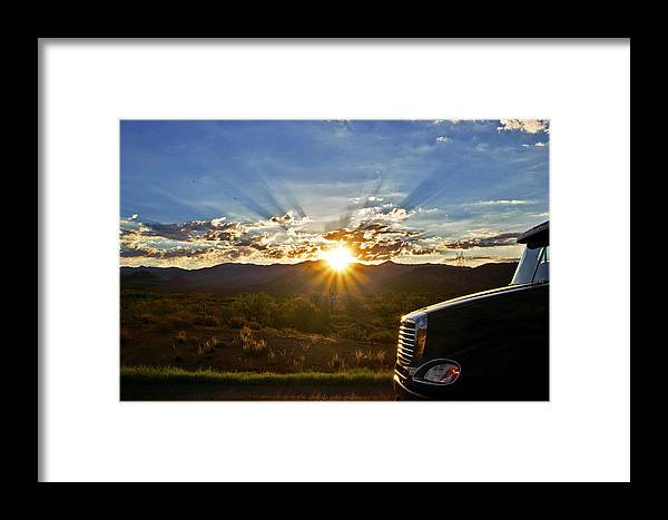 Sunrise Framed Print featuring the photograph Sunrise On A Traffic Jam by Patrick Moore