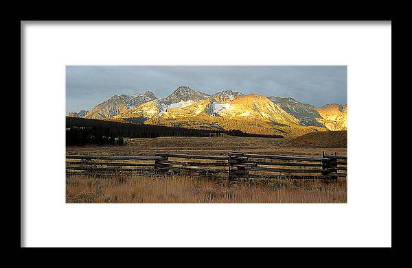 Idaho Framed Print featuring the photograph Sunrise On Sawtooth Mountains Idaho by Robert Woodward
