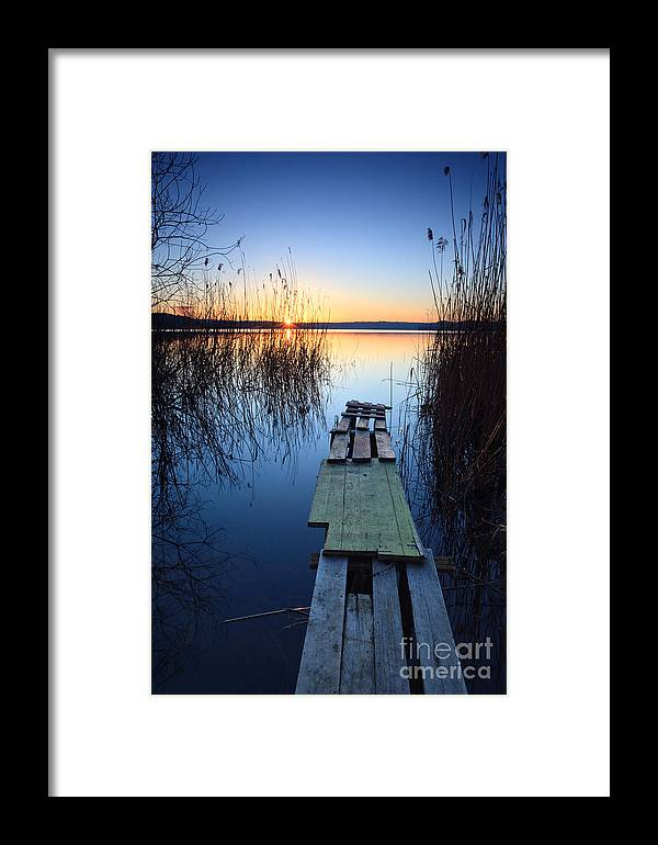 Lake Framed Print featuring the photograph Sunrise On The Lake II by Matteo Colombo