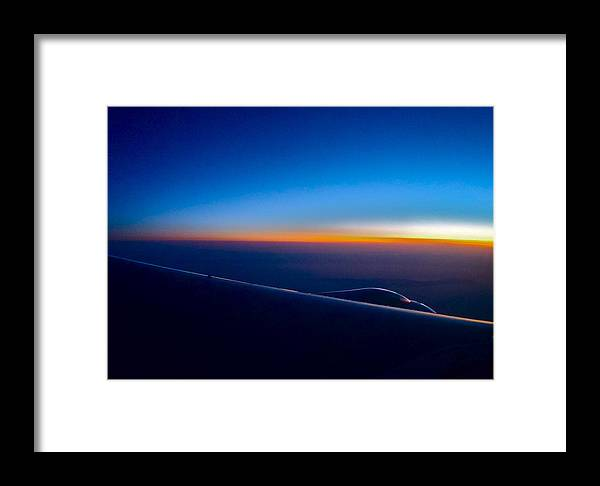 Sunrise Framed Print featuring the photograph sunrise over California by Rob Michels