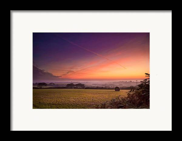 Landscape Framed Print featuring the photograph Sunrise Over Cornwall by Christine Smart