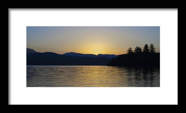 Sunrise Framed Print featuring the photograph Sunrise Over Lough Eske And The Bluestack Mountains by Bill Cannon