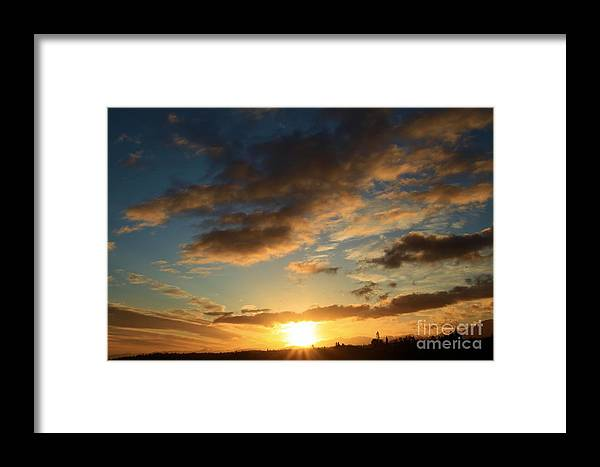 Port Angles Framed Print featuring the photograph Sunrise Over Port Angeles by Adam Jewell