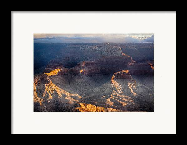 Grand Canyon Framed Print featuring the photograph Sunrise Over The Canyon by Lisa Spencer