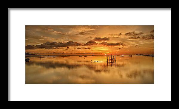 Scenics Framed Print featuring the photograph Sunrise, Phu Quoc, Vietnam by Huyenhoang